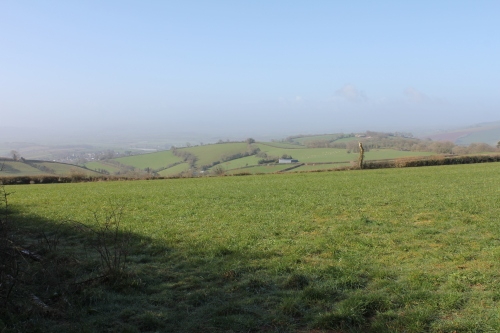 Looking South West towards Cornwall